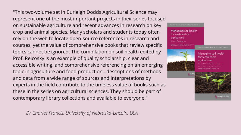 burleigh, dodds, agriculture, sustainable, soil, health, review